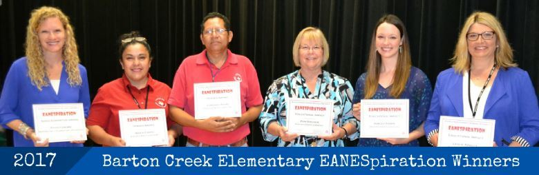 Barton Creek ES EANESpiration Winners, 2017