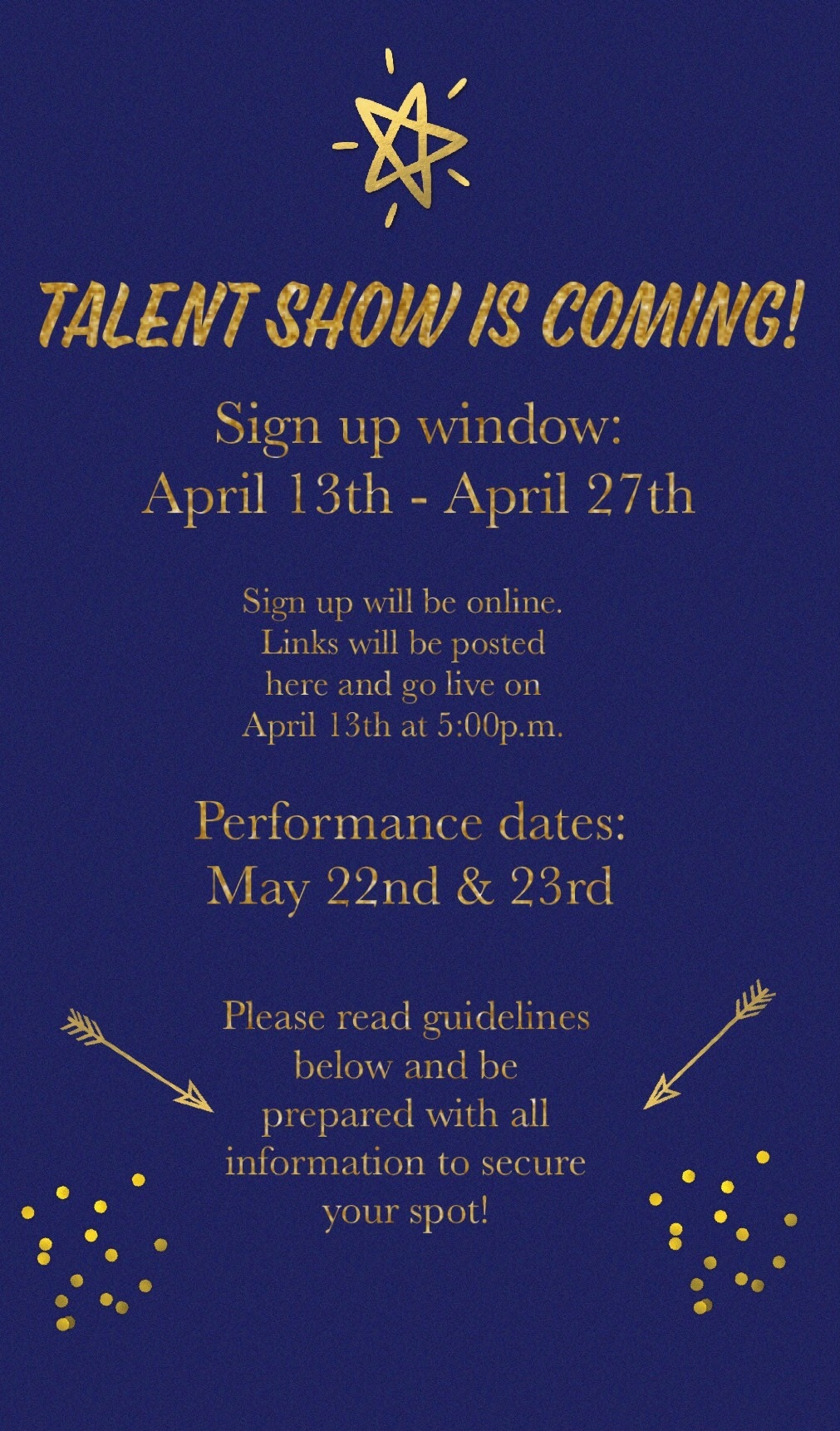 Talent Show Sign-Up!